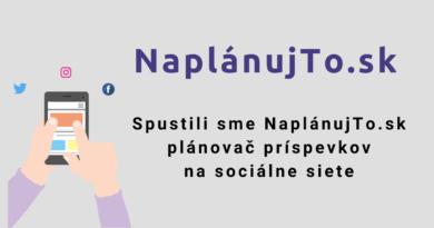 Spustli sme NaplánujTo.sk