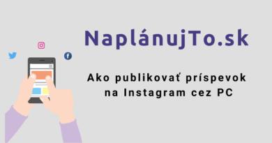 Ako publikovať príspevok na Instagram cez PC