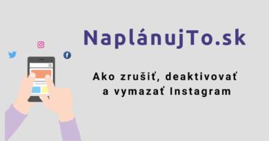 Ako zrušiť a vymazať Instagram