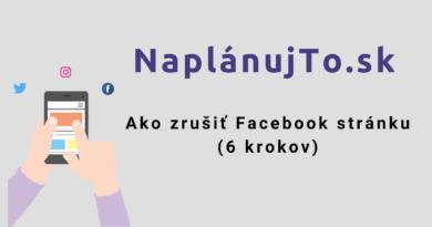 Ako zrušiť Facebook stránku